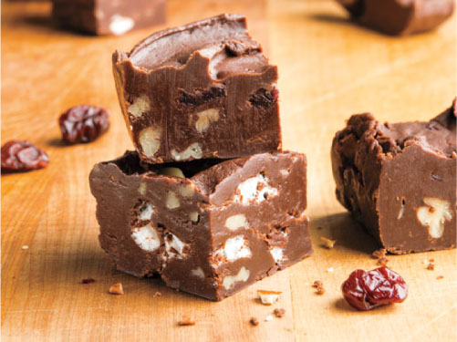 Cherry-Walnut Amaretto Fudge