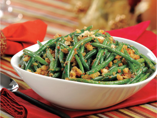 Green Beans with Parmesan-Garlic Crumbs