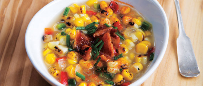 Grilled Sweet Corn Soup