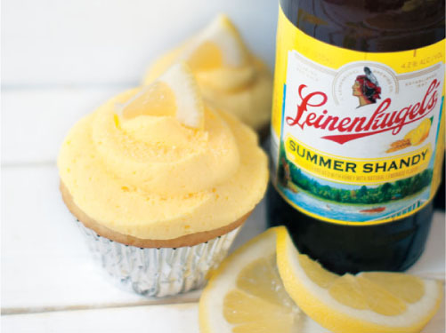 Leinenkugel's Summer Shandy Lemon Cupcakes