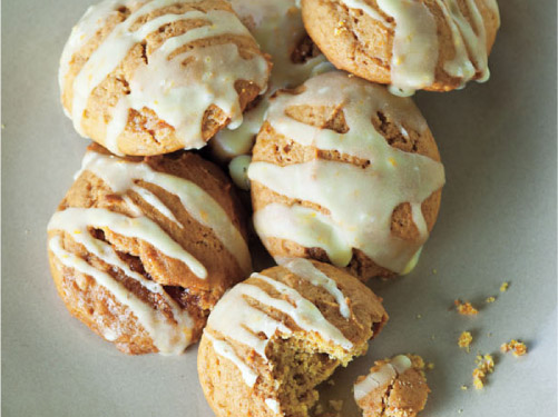 Pumpkin Cookies with Orange Glaze