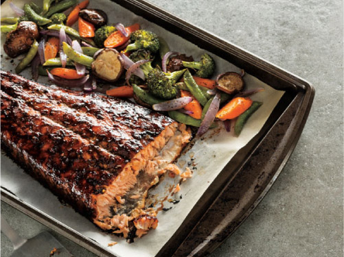 Roasted Asian-Glazed Salmon & Veggies
