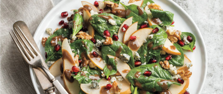 Spinach, Pear and Gorgonzola Salad