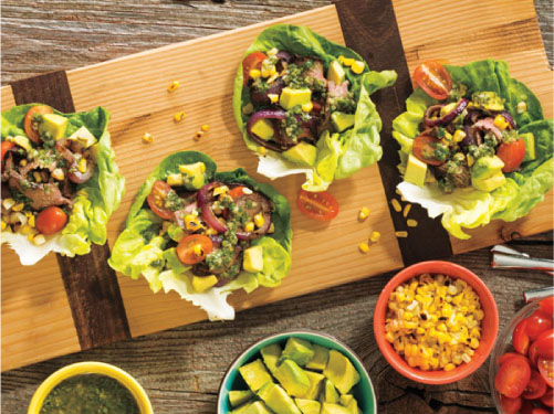 Summertime Steak Lettuce Wraps