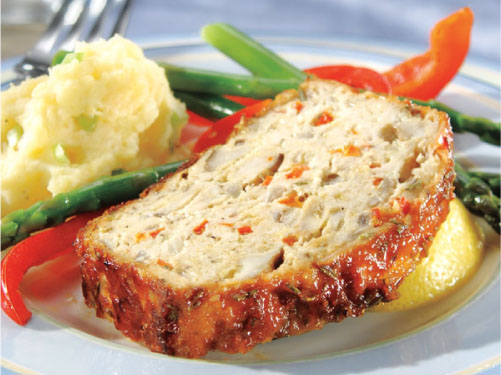 Turkey Meatloaf with Lemon Rosemary Glaze