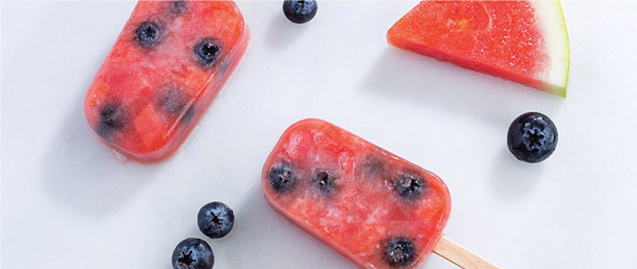 Watermelon-Blueberry Pops
