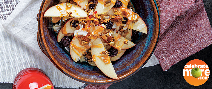 Apple-Peanut Butter Breakfast Nachos