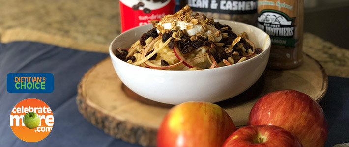 Spiralized Apple Crisp Breakfast Bowl