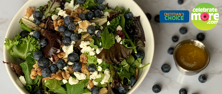 Blueberry Walnut Salad with Homemade Vinaigrette