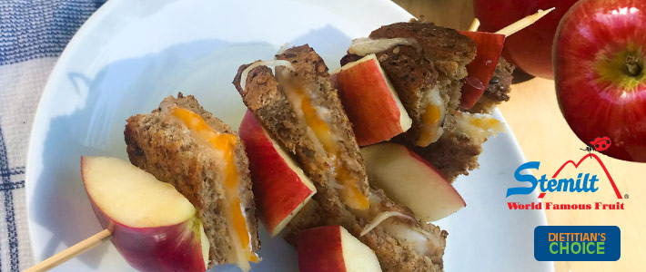 Grilled Cheese Apple Skewers