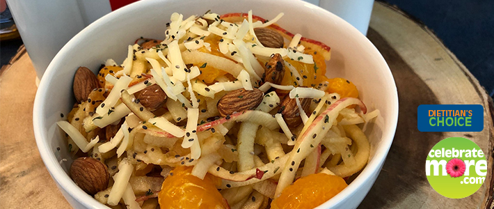Spiralized Apple Salad with Toasted Almonds