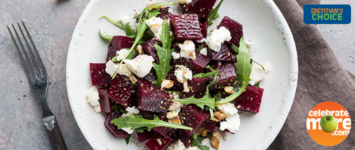 Ghostly Goat Cheese and Mysterious Beet Salad with Toasted Pistachios