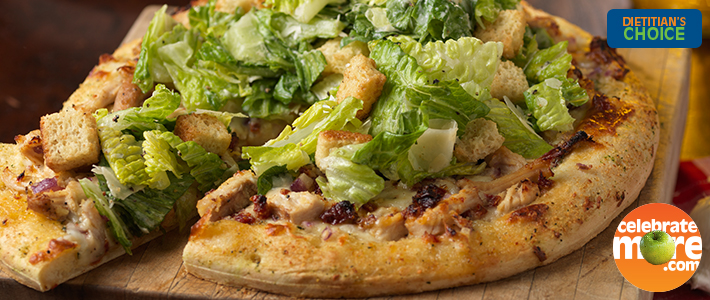 Turkey Caesar Pizza with Greens