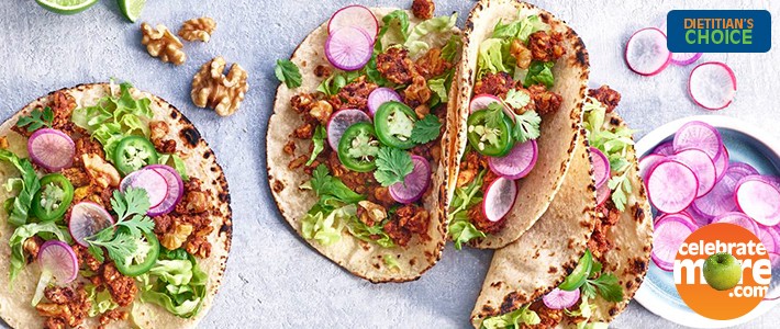 "Walnut ""Chorizo"" Tacos with Pickled Vegetables"