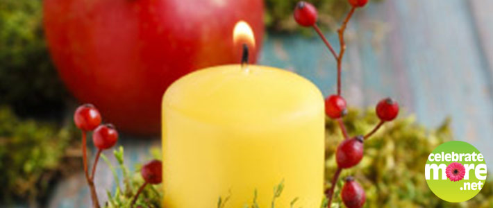DIY Fall Decor Apple Votive Holder