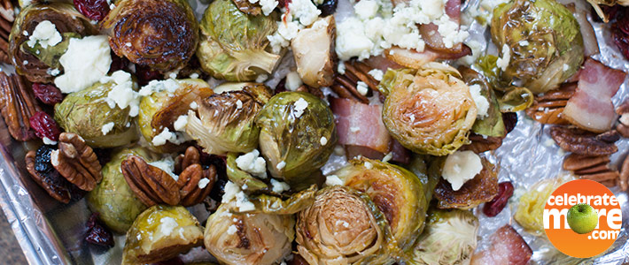 Cranberry Brussels Sprouts with Bacon
