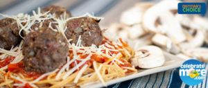 Blenditarian Spaghetti and Meatballs
