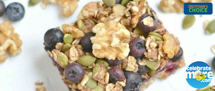Blueberry Protein Walnut Breakfast Bars