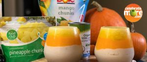 Fruity Candy Corn Smoothies