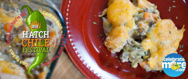 Hatch Chile Tater Tot Hotdish