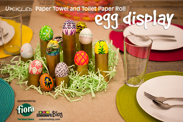 Upcycled Paper Towel and Toilet Paper Rolls - 5 Ways www.cobornsblog.com
