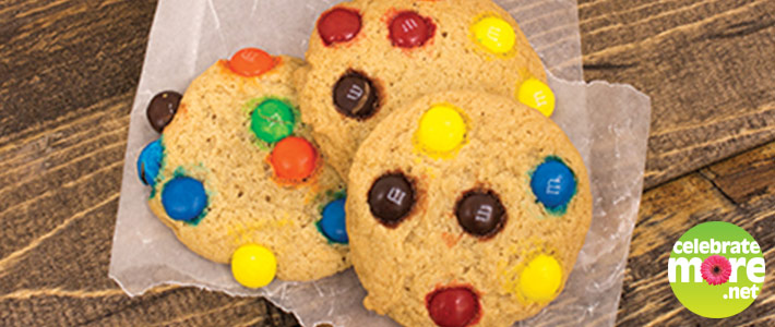 New Gluten Free M&M Cookies in the Bakery!