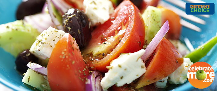 Simple Greek Veggie Salad