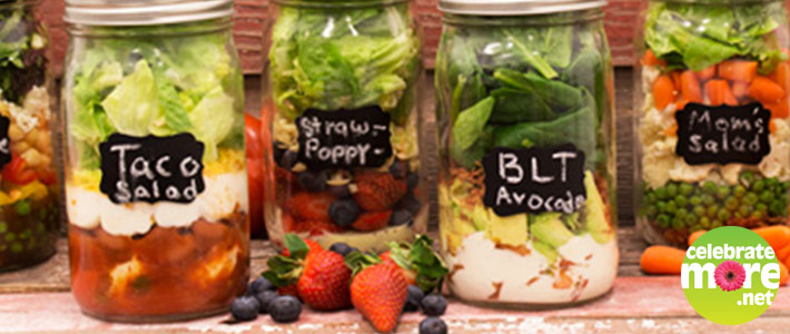 6 Quick and Easy Salads in a Jar