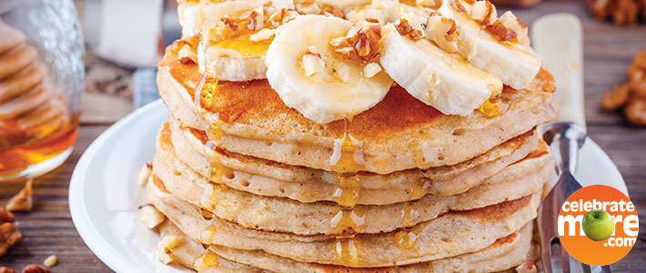 Hearty Banana Oat Flapjacks
