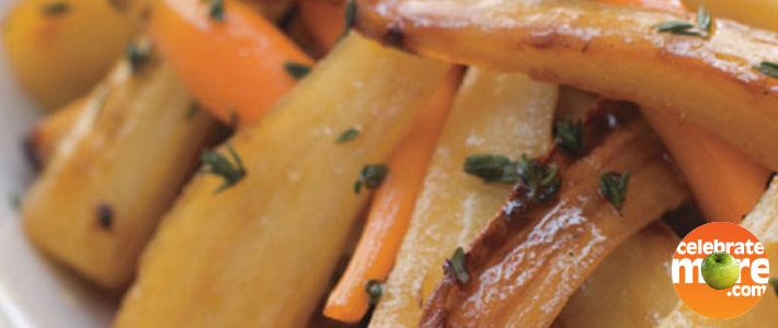 Roasted Carrots & Parsnips with Cider Vinaigrette