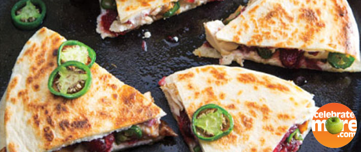 Turkey, Cranberry & Goat Cheese Quesadillas