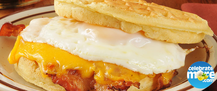 Bacon, Egg & Cheese Waffle Breakfast Sandwich